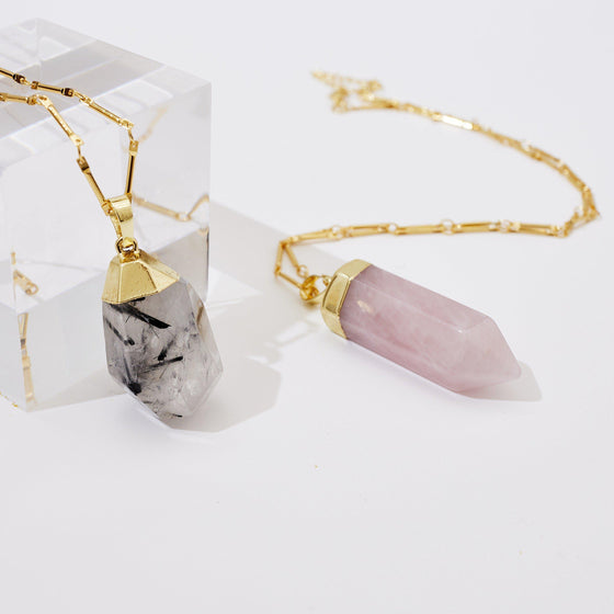 Natural Crystal Drop Necklace-Nine Zen