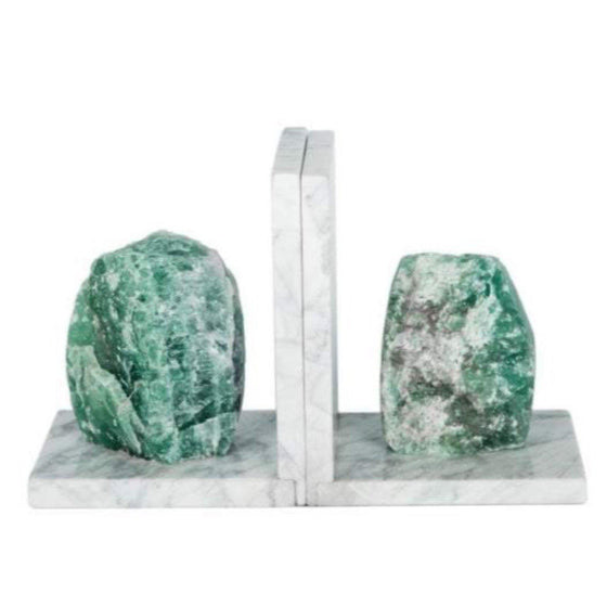 Natural Raw Agate Stone Bookends-Nine Zen