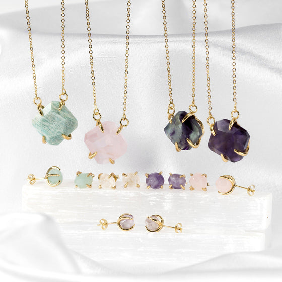Natural Stone Prong-Held Pendants-Nine Zen