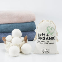 Organic XL Wool Dryer Balls - set of 6-Nine Zen