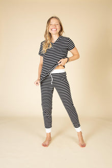 Posie Comfy Soft Striped Lounge Set-Nine Zen