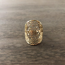 Sacred Mandala Sri Yantra Seed of Life Ring-Nine Zen