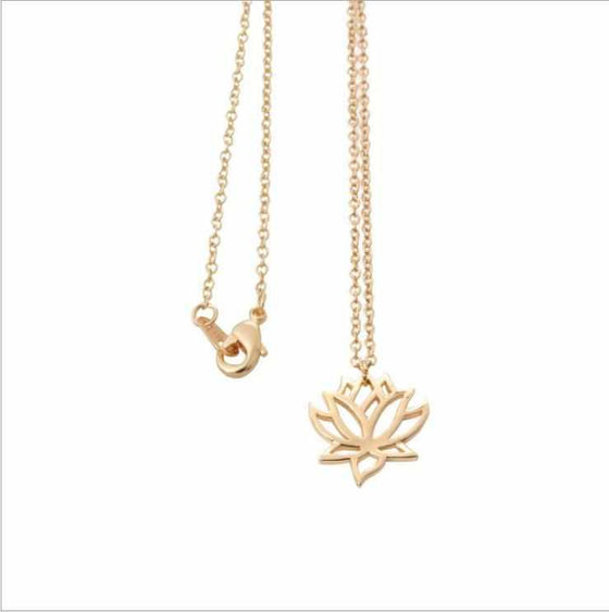 Simple Zen Lotus Flower Necklace-Nine Zen