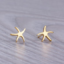 Star Fish Stud Earrings-Nine Zen