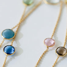 Sterling Gold Multi Gemstone Necklace-Nine Zen