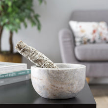 White Marble Bowl-Nine Zen