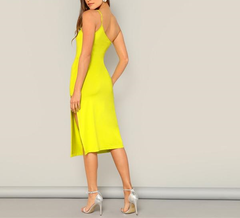 Neon Yellow Cut Dress