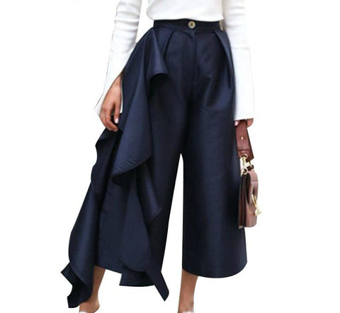 High Waist Ruffle Pants