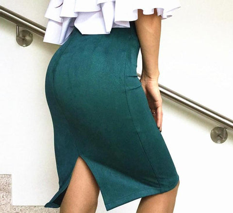 Sexy Suede Skirt