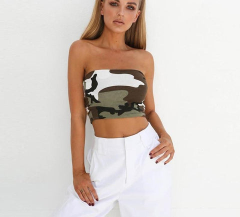 B Camouflage Crop Top