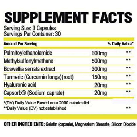 FitStrong Supplements - Mend Supplement Facts