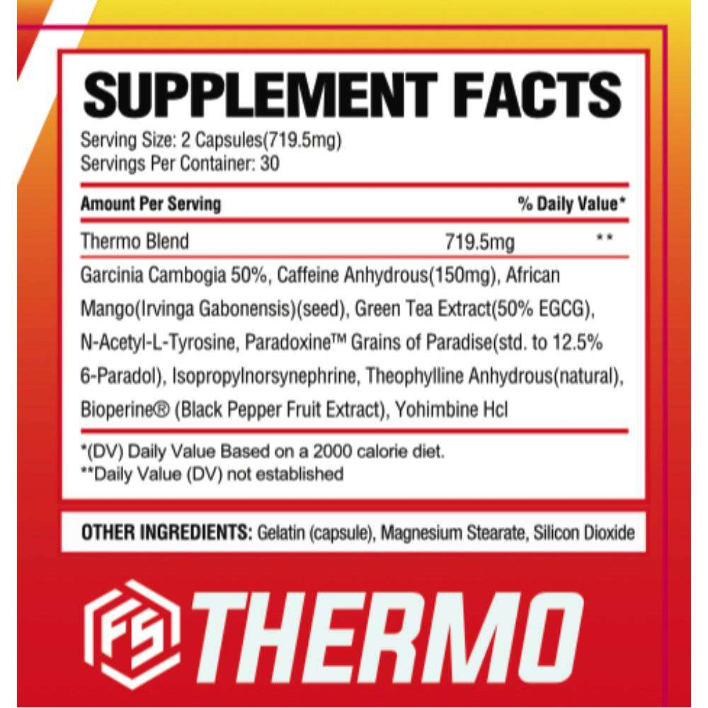 FitStrong Supplements - Thermo Supplement Facts