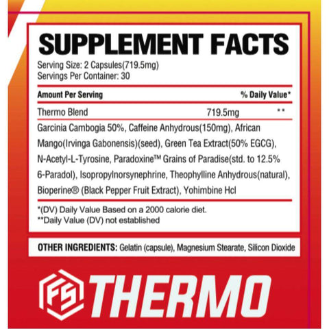 Image of FitStrong Supplements - Thermo Supplement Facts