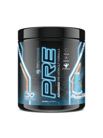 Image of FitStrong Supplements - Pre (Big Bang Blue Raspberry)