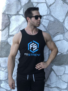Black FitStrong Tank Top - FitStrong Supplements