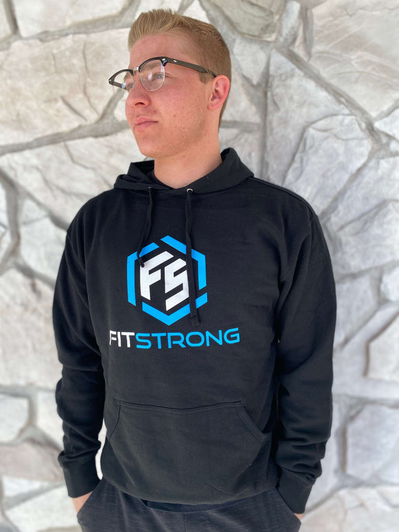 FitStrong Heavyweight Hoodie (Black) - FitStrong Supplements