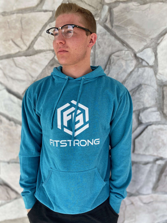 FitStrong Heavyweight Hoodie (Blue) - FitStrong Supplements