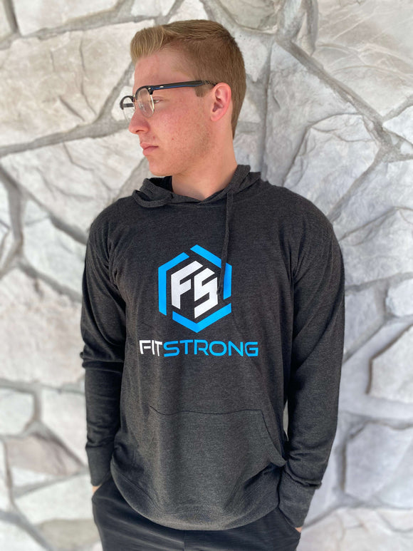 FitStrong Lightweight Hoodie (Charcoal) - FitStrong Supplements