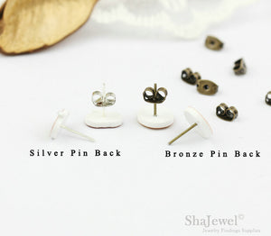 4pcs (2 pairs) Mini Resin bear Earrings, bear Head Charms, Animal Pendant, Perfect for Stud Earring - YED002N