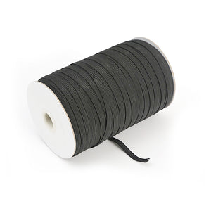 3mm Wide Flat Elastic Cord - About 1/8'' Inch Width - Black and White Band For Sewing, DIY Masks, Hair Ties, Crafts - MSK005