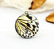 Butterfly Wing Charm Locket Necklace