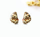Butterfly wing charms earrings