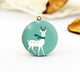 Cute White Reindeer Charm Locket Necklace