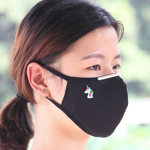 Filter Face Mask Free Nose Adjuster, Unicorn Reusable Fliter Pocket Facemask Adults, PM2.5 filter Soft cotton mask, Custom mask - MSK202F
