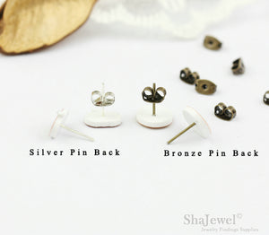 4pcs (2 pairs) Mini Resin leaf Earrings, leaf Charms, Tree Pendant, Perfect for Stud Earring - YED005J
