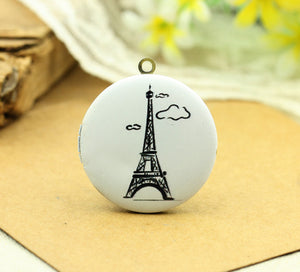 Paris Eiffel Tower Charm Locket Necklace