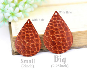 Size of the Leather Teardrop Charm Earring