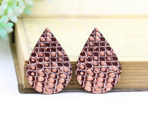 Skin Texture Leather Earring Teardrop Charm Supplies