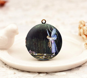 Vintage Fairy Charm Locket Necklace