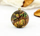 Vintage Flower Fairy Fruit Charm Locket Necklace