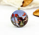 Vintage Fruit Flower Fairy Charm Locket Necklace