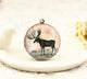Vintage Stag Charm Locket Necklace
