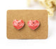 4pcs (2 pairs) Mini Resin flamingo Earrings, hear flamingo  Charms,  Love Pendant, Perfect for Stud Earring - YED018H