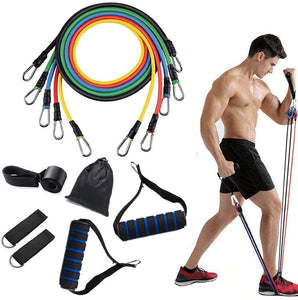 11PCS FITNESS RESISTANCE BANDS