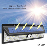 Solar Lights Outdoor 54 LED (Ultra Bright)