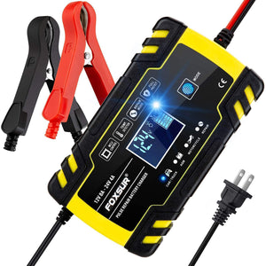 12V-24V/8A MULTIFUNCTIONAL SMART BATTERY CHARGER (AUTO, FAST)