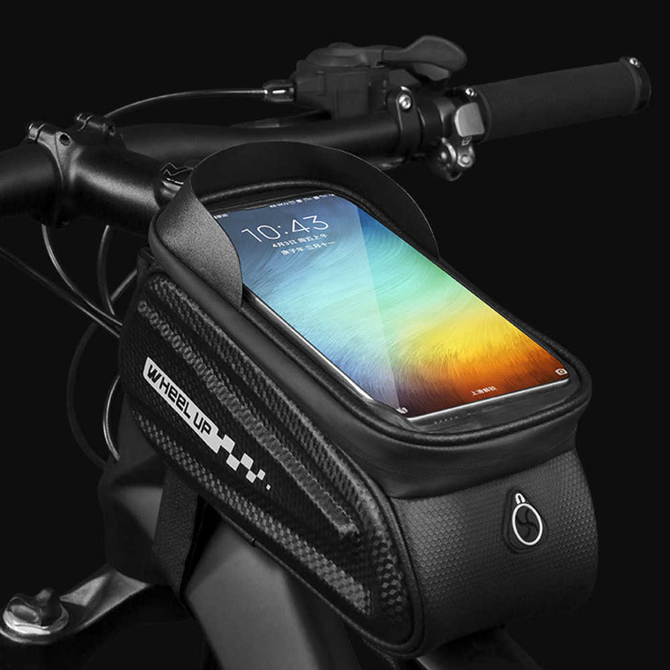 Touchscreen Reflective Bike Bag (Hardshell & Waterproof) - 4.7inches to 6inches