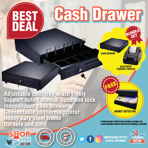 HEAVY DUTY ELECTRONIC CASH DRAWER BOX