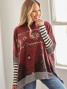 *Preorder* Burgundy Snow flake tunic