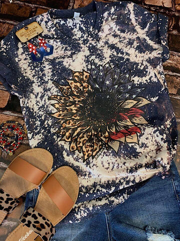 *Preorder* Patriotic Bleached Sunflower Tee (S-3xl)