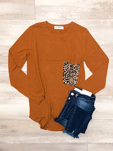 *New* Almond leopard top