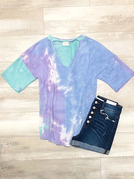 *New* Lavender and Blue Tie dye
