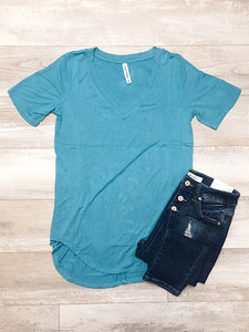 *New* Ash Mint Short Sleeve Top - Araly's Boutique