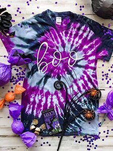 *New* Boo tie dye top