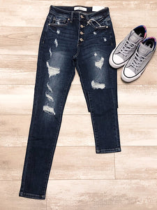 *New* Distress Kancan Jeans - Araly's Boutique