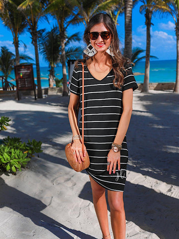 *Preorder* Black Stripe Abby Dress